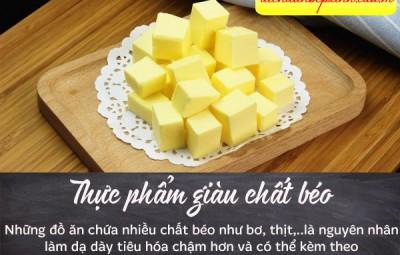 Cần tránh những thực phẩm giàu chất béo