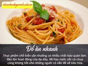 Tránh những đồ ăn nhanh