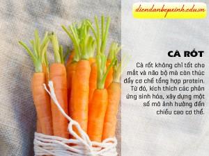 Tăng chiều cao bằng cà rốt