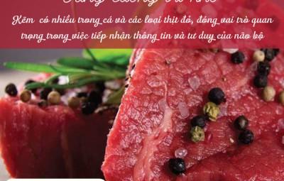 Tăng cường trí nhớ với thịt