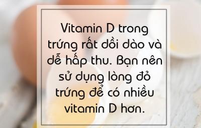 Bổ sung Vitamin D với Trứng