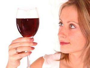 Uống rượu đỏ mặt