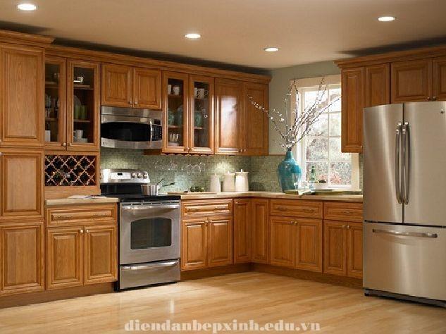 Tủ bếp gỗ đẹp cho mọi nhà