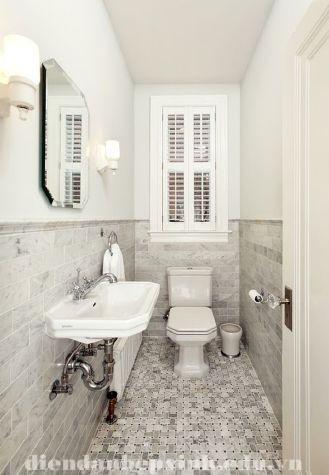 Làm sao phòng tắm hẹp ấn tượng hơn ?